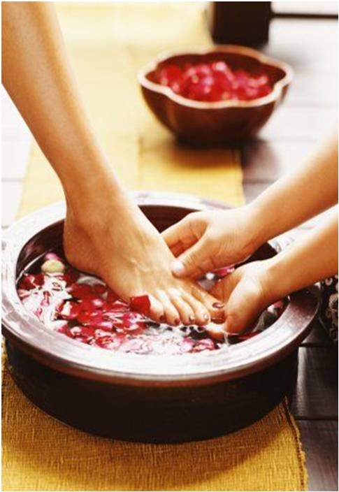 esential oils for foot bath or hand bath pedicure manicure